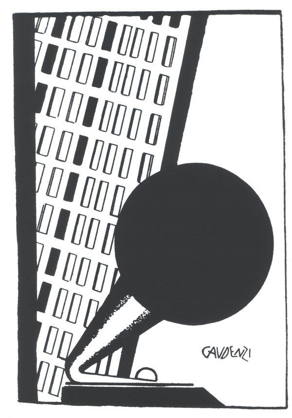 alf gaudenzi serigrafia fonografo