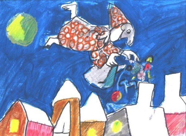 EMANUELE LUZZATI - Gennaio - Giocando sui tetti-0
