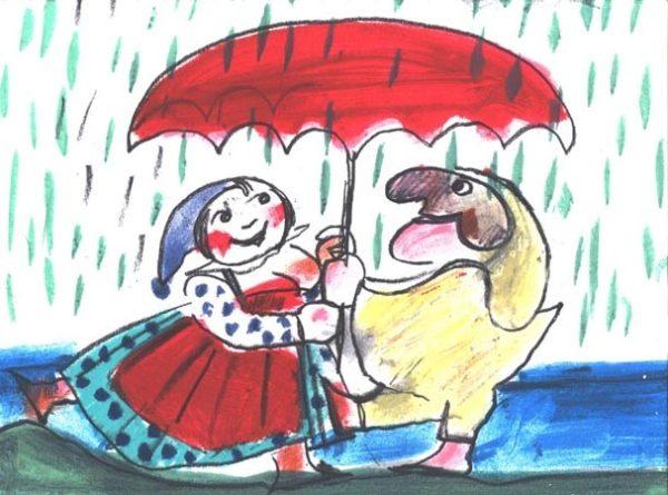 EMANUELE LUZZATI - Marzo - Pioggia di primavera-0