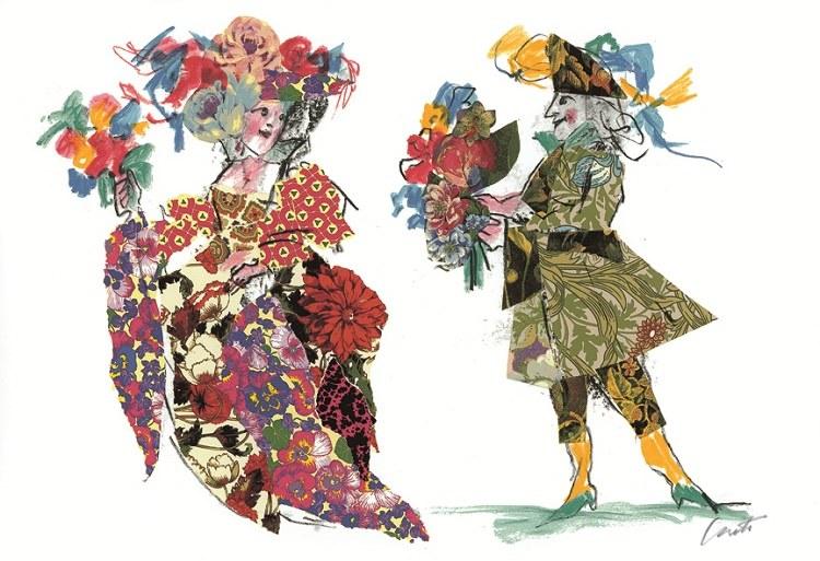 EMANUELE LUZZATI - Costumi Floreali-0