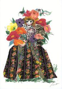 dama fiori - emanuele luzzati