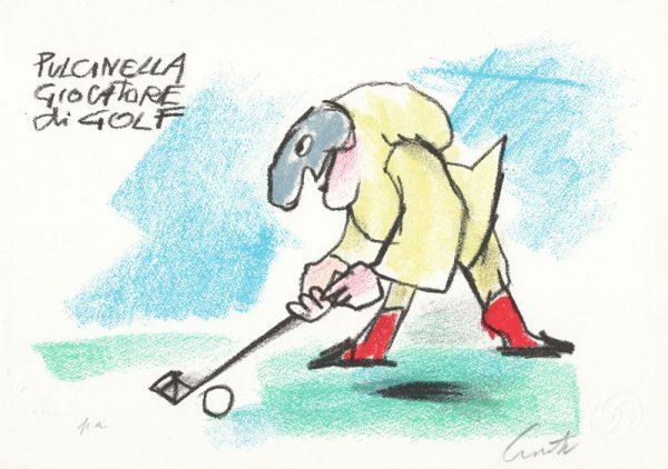 EMANUELE LUZZATI - Pulcinella giocatore di golf-0