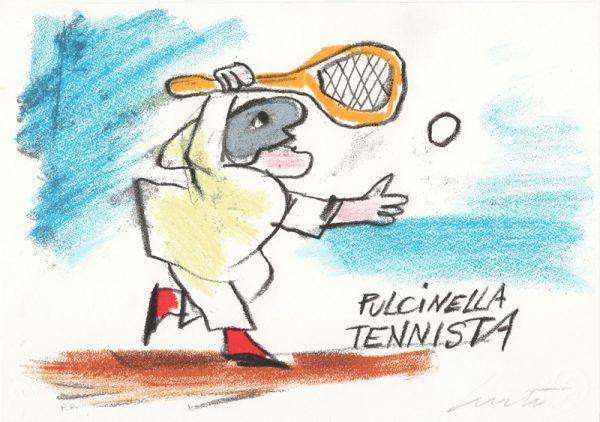 EMANUELE LUZZATI - Pulcinella tennista-0