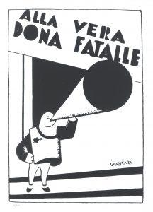 alf gaudenzi serigrafia ala vera donna fatalle