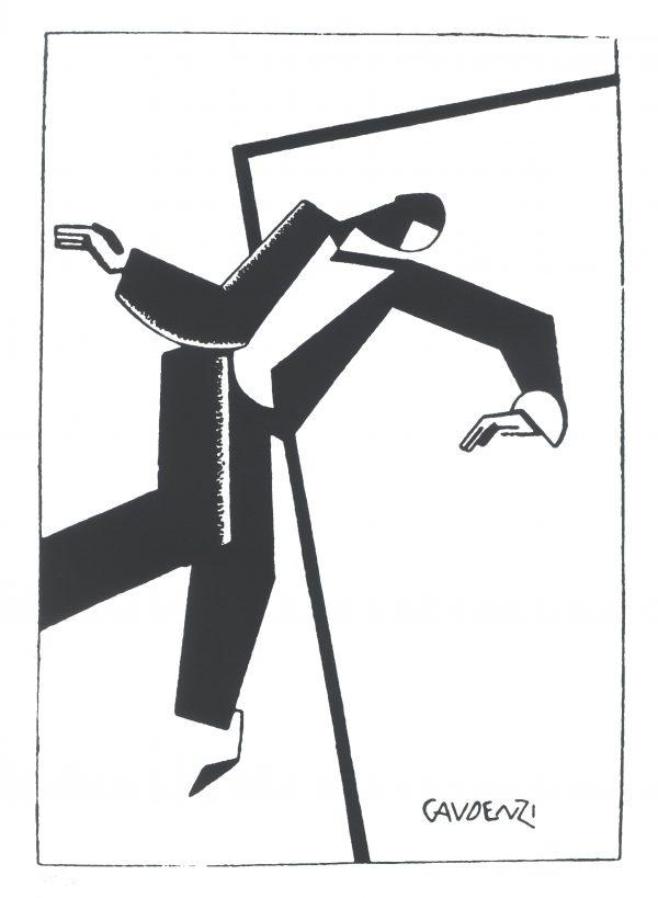 alf gaudenzi a tempo di charleston serigrafia