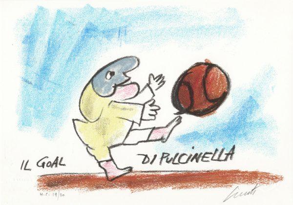 EMANUELE LUZZATI - Il goal di Pulcinella