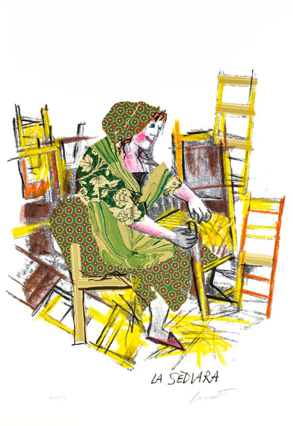 EMANUELE LUZZATI - La sediara