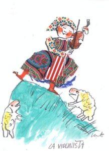 EMANUELE LUZZATI - La Violinista (La Ragazza Cigno)