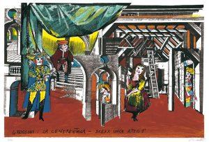 EMANUELE LUZZATI - Scenografia: Cenerentola di Rossini