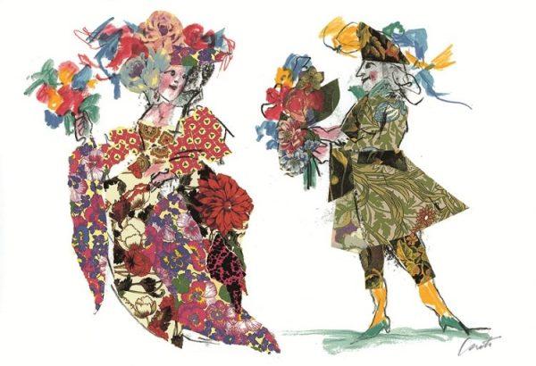 EMANUELE LUZZATI - Costumi Floreali
