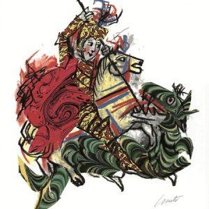 EMANUELE LUZZATI - San Giorgio e il drago