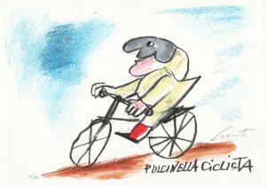 EMANUELE LUZZATI - Pulcinella ciclista