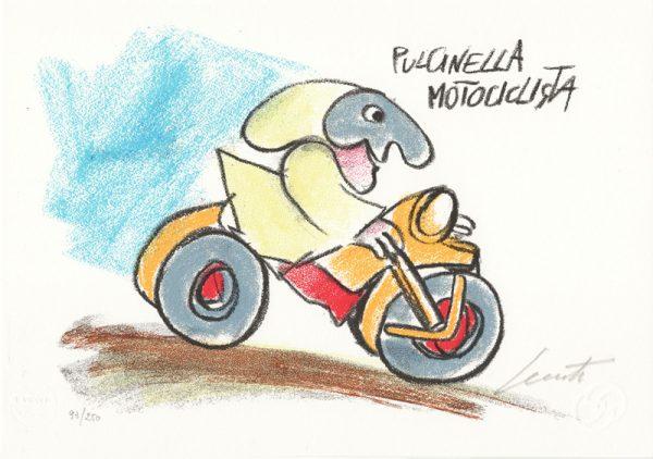 EMANUELE LUZZATI - Pulcinella motociclista