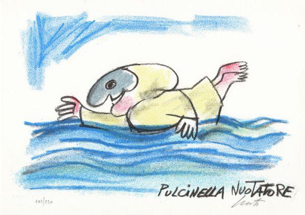 EMANUELE LUZZATI - Pulcinella nuotatore