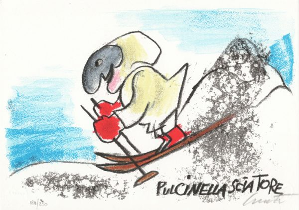 EMANUELE LUZZATI - Pulcinella sciatore