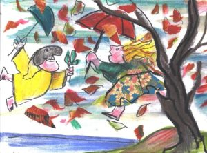 Luzzati novembre vento serigrafia