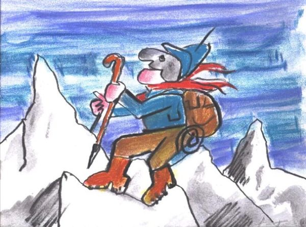 Luzzati serigrafia agosto in montagna
