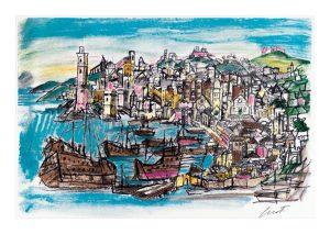 Luzzati manifesto Genova porto