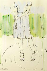 De Luca_pensiero di donna-monotipo-serigrafia