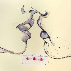De Luca -bacio-serigrafia