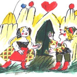 Le-fiabe-Hansel-e-Gretel-Luzzati-serigrafia
